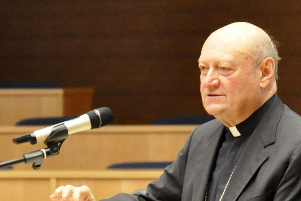Cardinal Gianfranco Ravasi during the Discerning Leadership course at the Jesuit General Curia in Rome