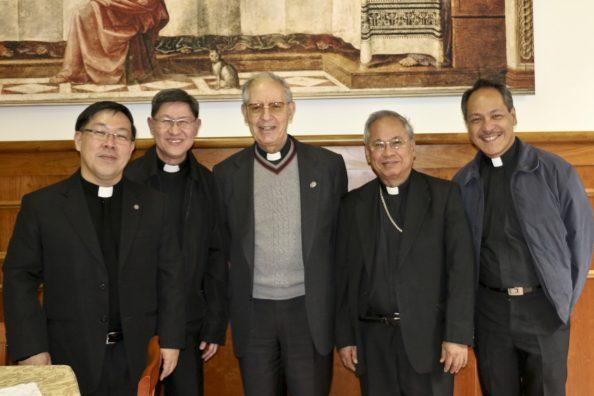 Cardinal Luis Antonio Tagle, Adolfo Nicolás SJ and other Jesuits