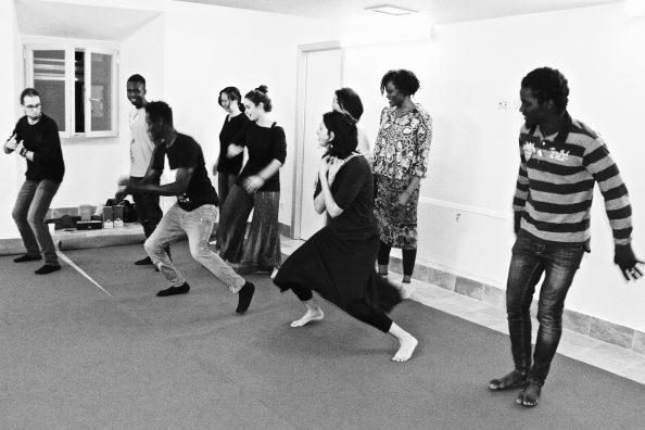 A dance lesson at the Matteo Ricci Center