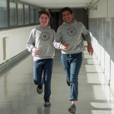 Two students in a Jesuit school
